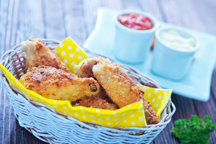Tea Party Ideas For Kids - Crispy Chicken Chunks