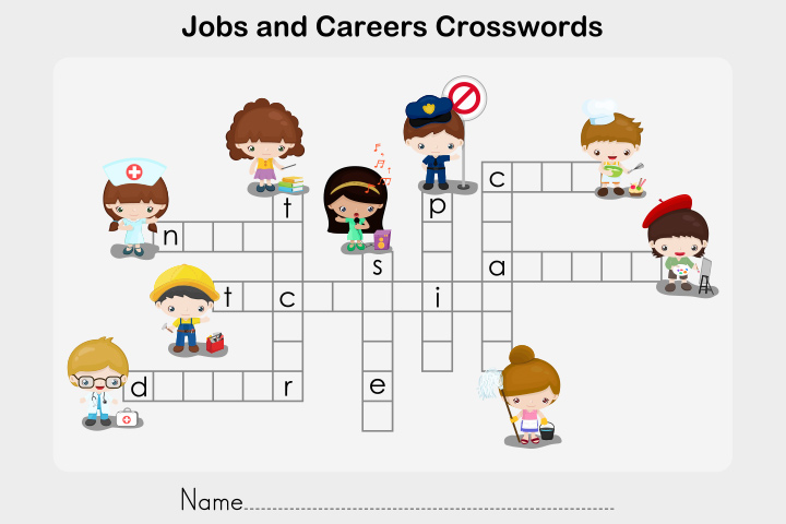 English Worksheets For Kids - Crosswords Worksheet