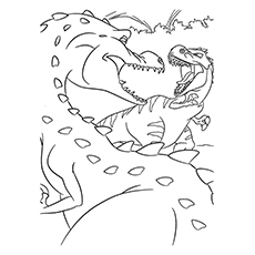 Nature Coloring Pages - Dinosaurs