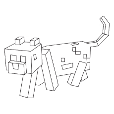 Mincecraft Dog Character Picture to Color