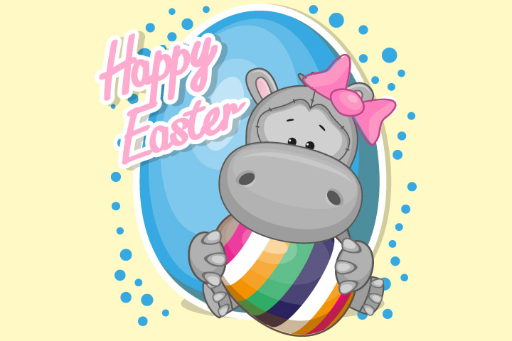 Hippo Craft - Easter Egg Hippo Craft