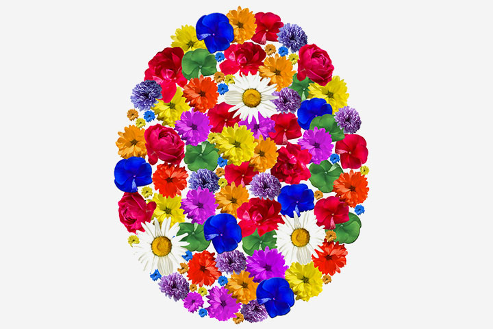 Easter Egg Crafts - Easter Egg Of Colorful Tissue Flowers