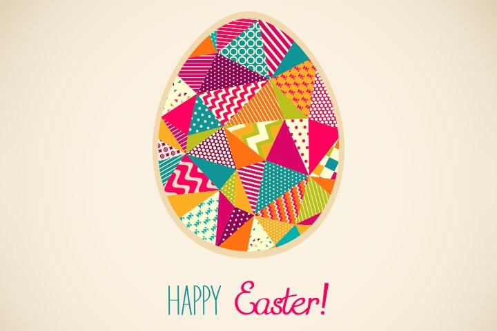 Easter Egg Crafts - Easter Egg Patchwork