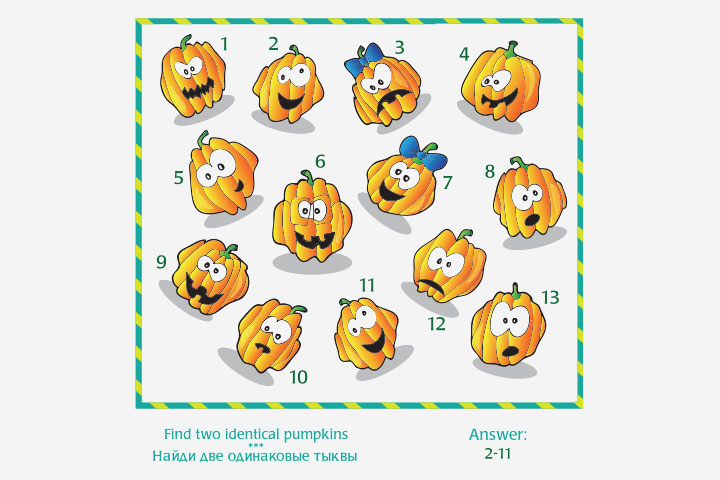 Activity Sheets For Preschoolers - Find-Two-Identical-Images Activity Sheet