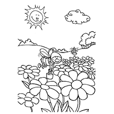 Nature Coloring Pages Flower Garden