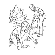 Nature Coloring Pages - Gardening