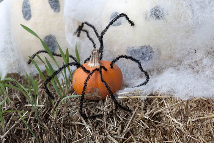 Spider Craft - Halloween Pumpkin Spider Craft