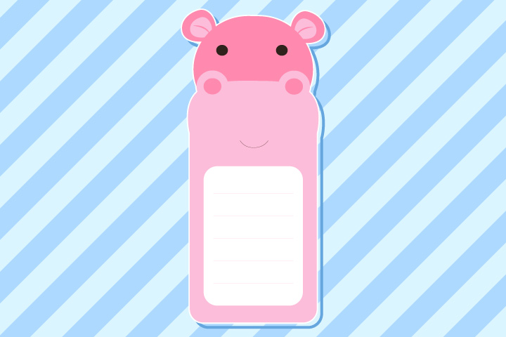 Hippo Craft - Hippo Bookmark Craft