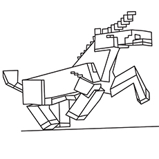 horse character from minecraft game coloring pages