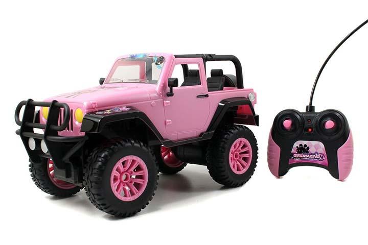 Jada Toys GIRLMAZING Big Foot Jeep RC Vehicle