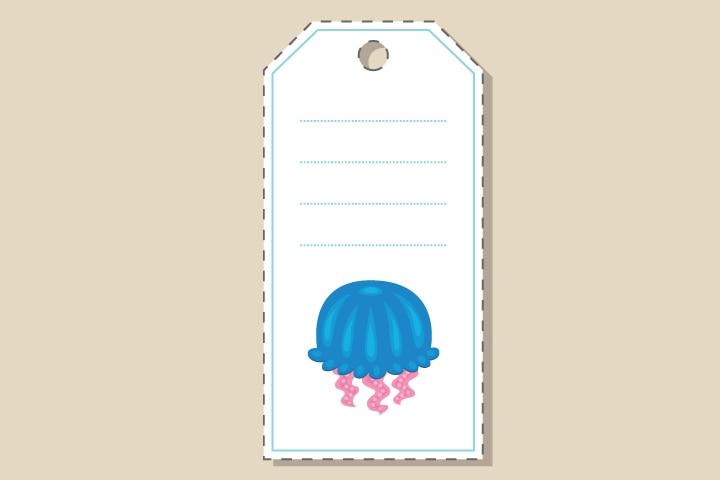 Jellyfish Craft - Jellyfish Gift Tag