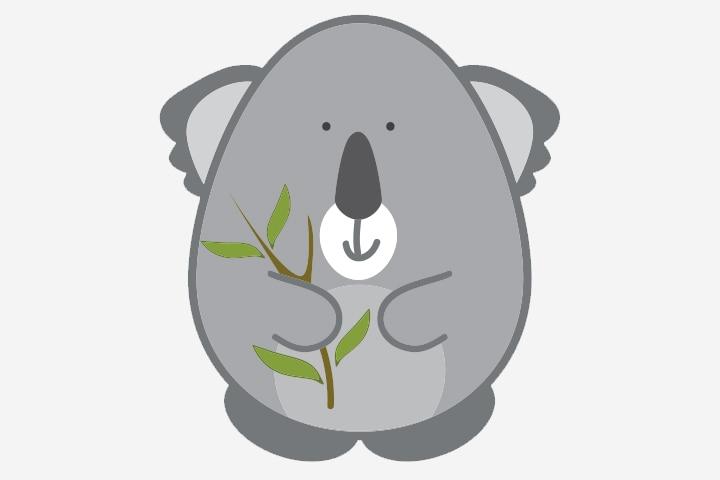 Koala Crafts - Koala Egg Craft