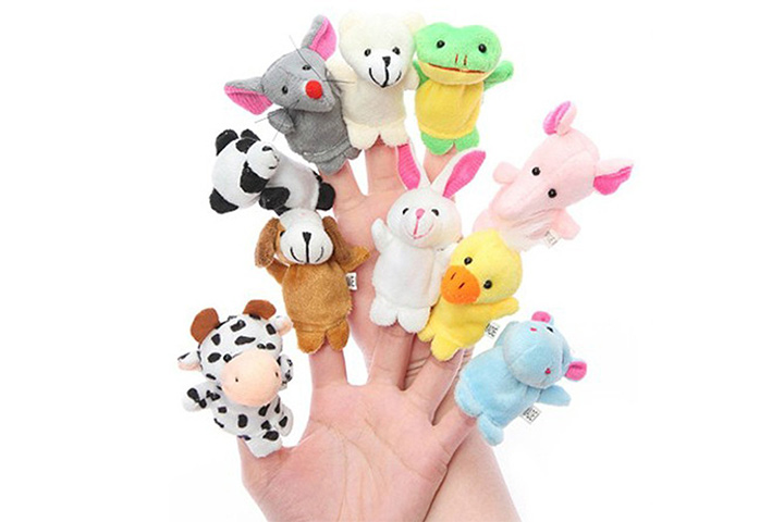 Kuhu creations animal finger puppet
