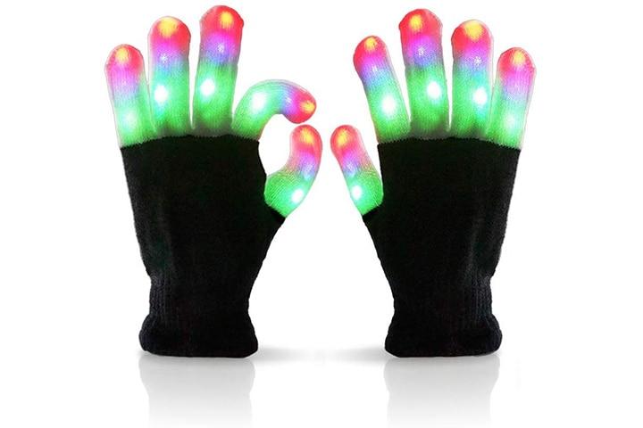 Luwint Children LED Finger Light Up Gloves