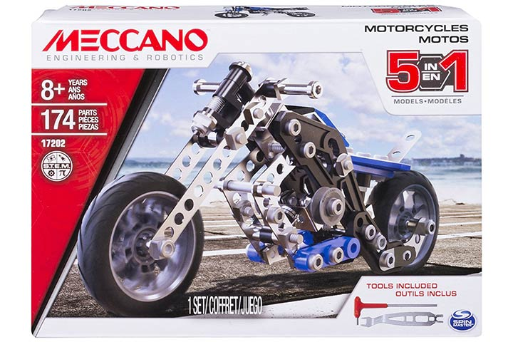 Meccano 5-in-1 Model Motorcycles