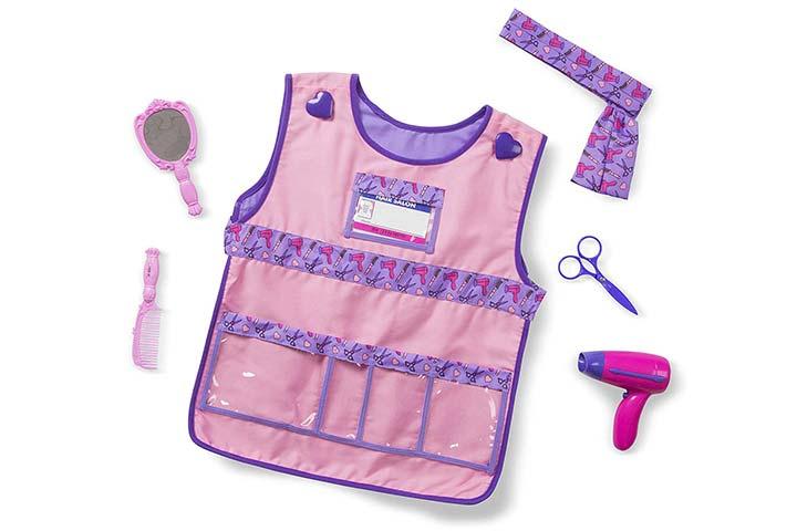 Melissa Doug Hair Stylist Role Play Costume Dress-Up Set