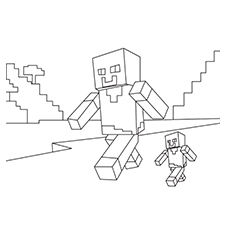 minecraft coloring pages cake - photo#17