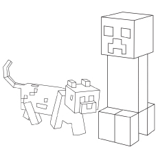 Minicraft Creeper coloring pages