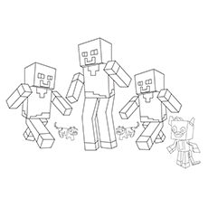 Mobs Coloring Sheets