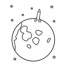 Moon is a Planet Coloring Pages to print