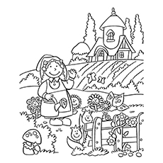 Nature Coloring Pages - Nature In The Backyard