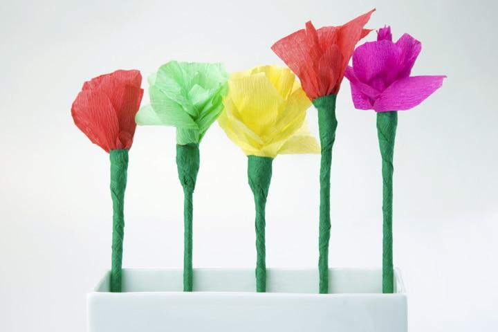 Tea Party Ideas For Kids - Paper Flowers