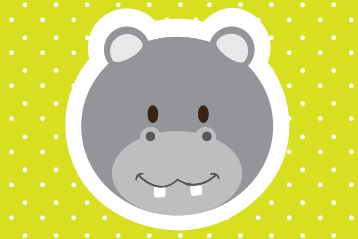 Hippo Craft - Paper Plate Hippo Craft