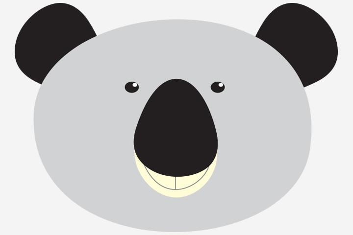 Koala Crafts - Paper Plate Koala Face Craft