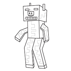 Zombie Pigman Of Minecraft Coloring Pages