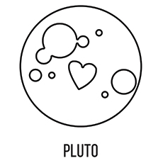 pluto planet coloring pages