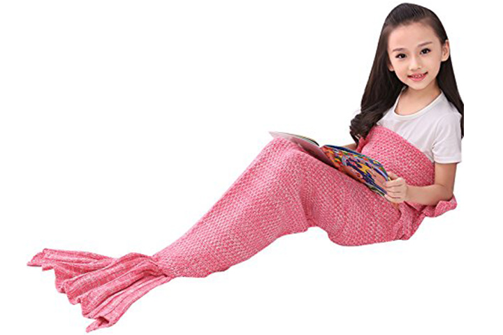 Porpora mermaid tail blanket