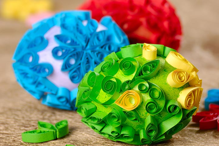 Easter Egg Crafts - Quilling Easter Egg Craft