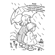 Nature Coloring Pages - Rain