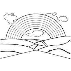 Nature Coloring Pages - Rainbow
