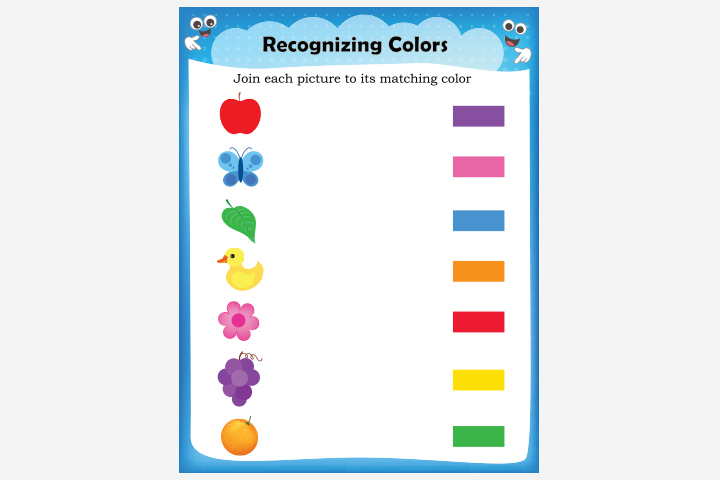 Activity Sheets For Preschoolers - Recognize-The-Color Activity Sheet