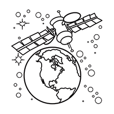 solar system satellite coloring pages