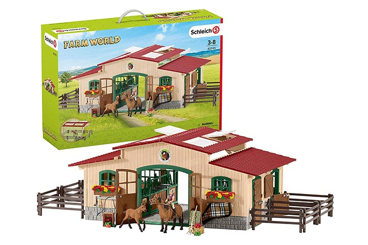 Schleich Stable with Horses Accessories