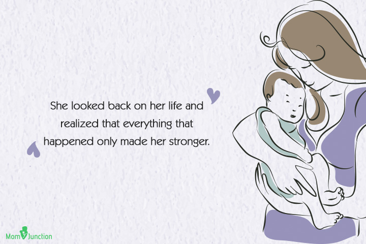 Single Mom Quotes - She looked back on her life