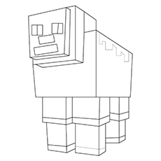 Mincraft Sheep to Color Free