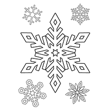 Nature Coloring Pages - Snowflakes