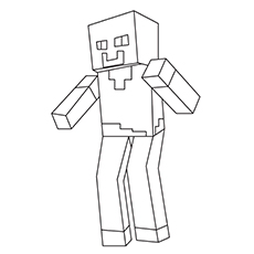 Steve Picture for Coloring