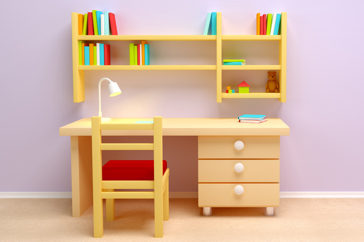 Study Table Design : Study Table Ideas - Study Table With Side Drawer
