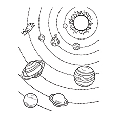 The Nine Planets Coloring Pages