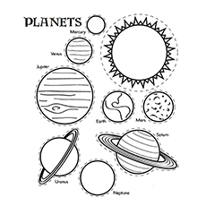 Nature Coloring Pages - The Solar System