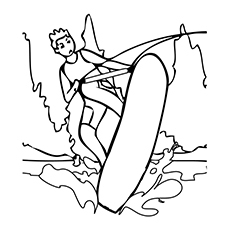 Nature Coloring Pages - The Water Cycle