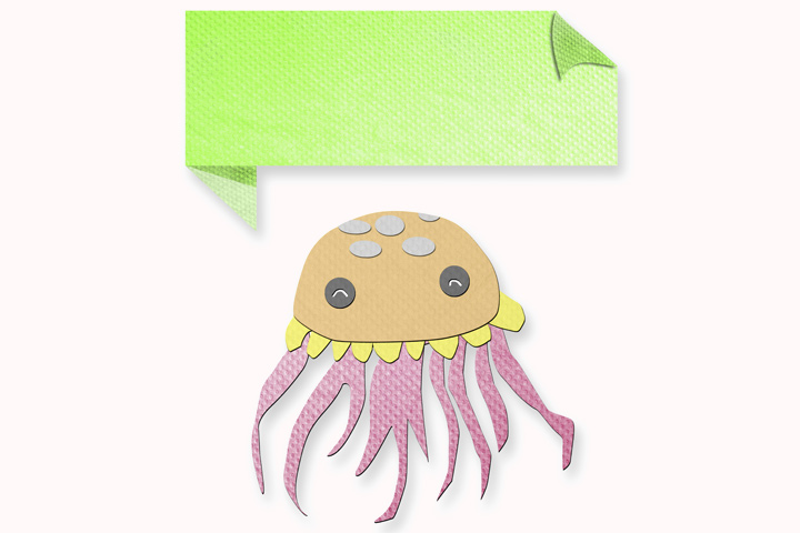 Jellyfish Craft - Tissue Paper Jellyfish Craft