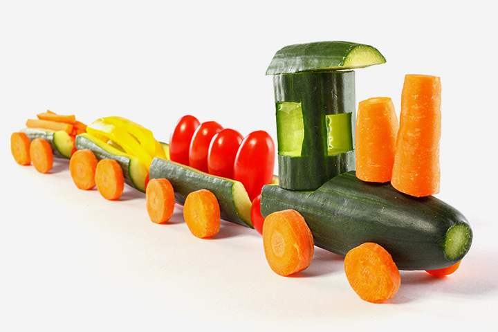 Vegetable Train Craft