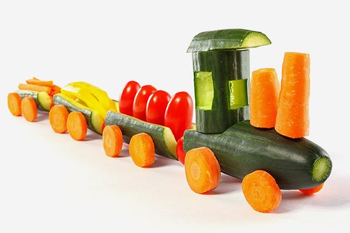 Vegetable Train Craft