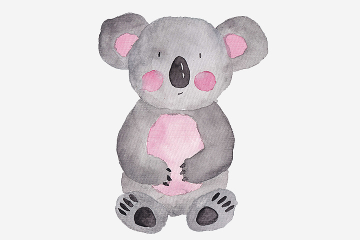 Koala Crafts - Watercolor Koala Painting