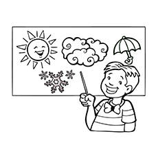 Nature Coloring Pages - Weather